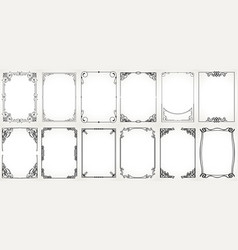 big set template decorative vintage frames vector image