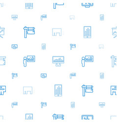 Billboard icons pattern seamless white background vector