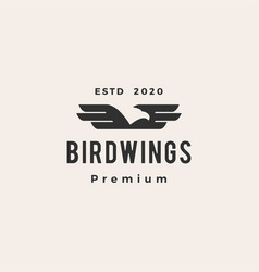 bird wing hipster vintage logo icon vector image