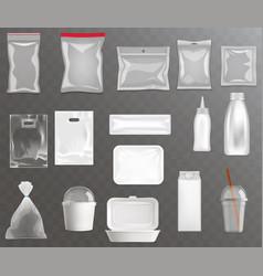 Blank food packaging realistic set eps10 vector