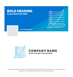 blue business logo template for arrow chart curve vector image