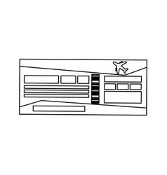 Boarding pass icon vector