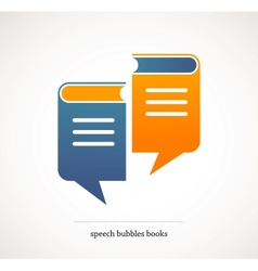 Book talks - concept design with speech bubbles vector