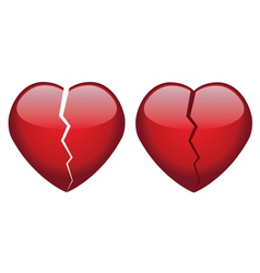 broken hearts vector image