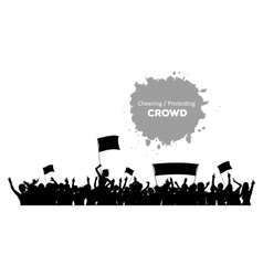 Cheering or Protesting Crowd vector image