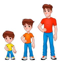 Child boy and man description of age vector image