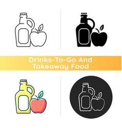 Cider to go icon vector