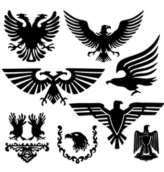 Coat arms with an eagle vector