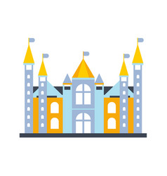 colorful fairytale royal castle or palace building vector image
