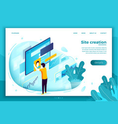 Concept site creation process vector