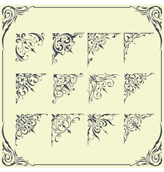 Corner frame ornament vector
