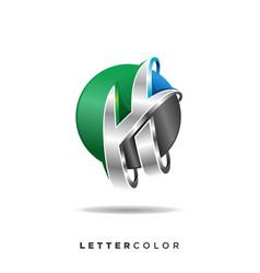 Creative abstract letter h logo design vector