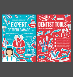 Dentist doctor medical and hygiene objects vector