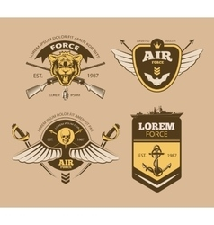 Desert military vintage labels vector image
