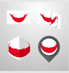 ecuador flag design set vector image