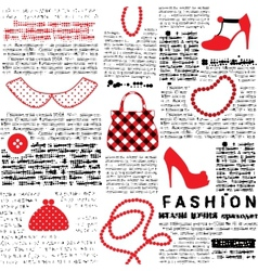 Fashionable background with imitation of newspaper vector