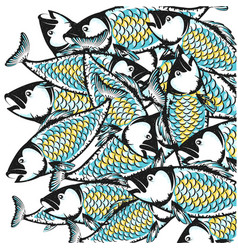 fish background design vector image