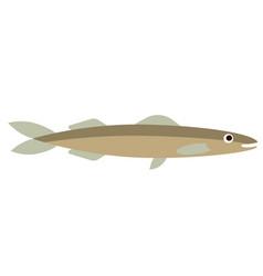 Fish flat color art vector