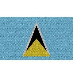Flags Saint Lucia on denim texture vector image