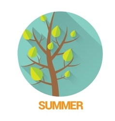 flat summer sign or label abstract background vector image