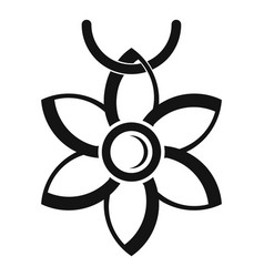Flower necklace icon simple style vector