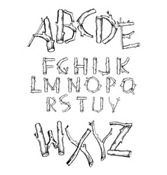 Font branches vector