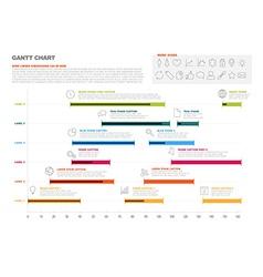 Gantt project production timeline graph vector