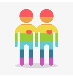 Gay couple boy in love vector