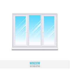 glass window with sill vector image
