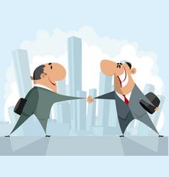 Handshake of two businessmen vector