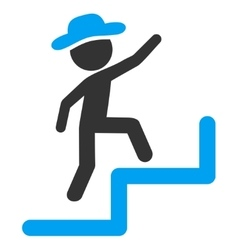 Human Steps Upstairs Icon vector