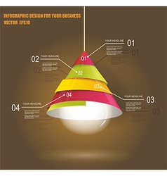 Infographic template with light bulb vector