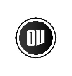 initial letter logo ov template design vector image