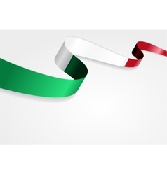 Italian flag background vector image
