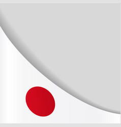 Japanese flag background vector