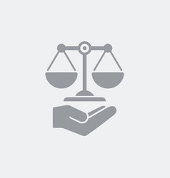 Legal assistance service icon vector