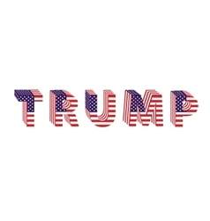 Letters from flag Trump Donald election table vector
