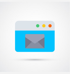 mail message trendy symbol trendy colored vector image