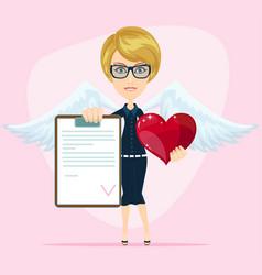 marriage divorce stock flat vector image