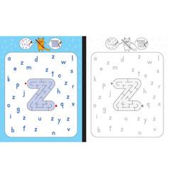 maze letter z vector image