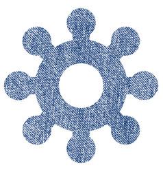 Mechanics gear fabric textured icon vector