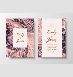 modern design wedding invitation liquid vector image