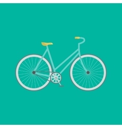 Modern flat of retro bicycle vector image