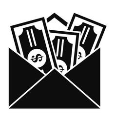 Money corruption icon simple style vector