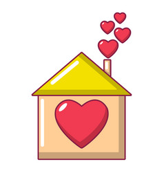 mother house icon cartoon style vector image