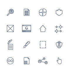 Multimedia icons for app programs and sites vector