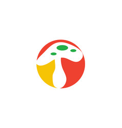 Mushroom logo vector
