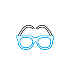 optical glasses thin line stroke icon vector image