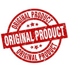 Original product round red grunge stamp vector