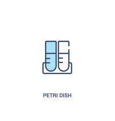 Petri dish concept 2 colored icon simple line vector